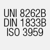 UNI 8262B DIN 1833B ISO 3959